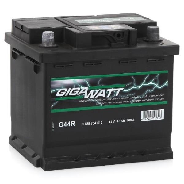 Автомобильный аккумулятор АКБ GigaWatt (Гигават) G44R 545 412 040 45Ач о.п.