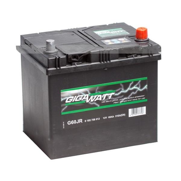 Автомобильный аккумулятор АКБ GigaWatt (Гигават) G60JR 560 412 051 60Ач о.п.