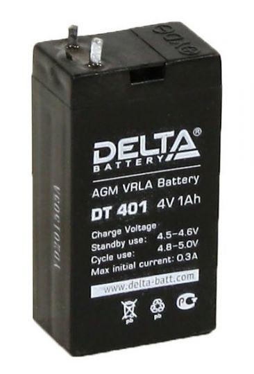 Аккумулятор свинцово-кислотный АКБ DELTA (Дельта) DT 401 4 Вольт 1 Ач