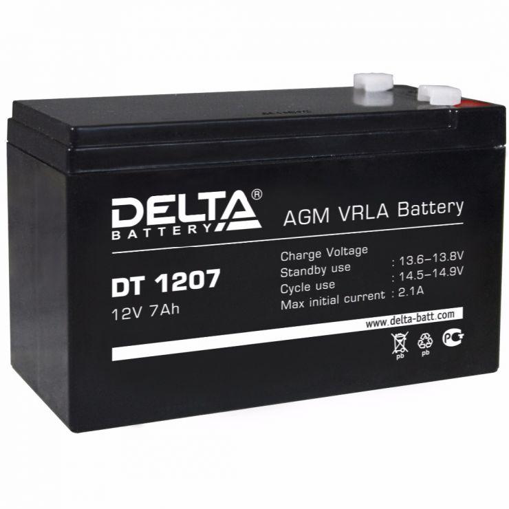 Аккумулятор свинцово-кислотный АКБ DELTA (Дельта) DT 1207 12 Вольт 7 Ач