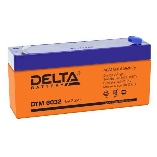 Аккумулятор свинцово-кислотный АКБ DELTA (Дельта) DTM 6032 6 Вольт 3.2 Ач