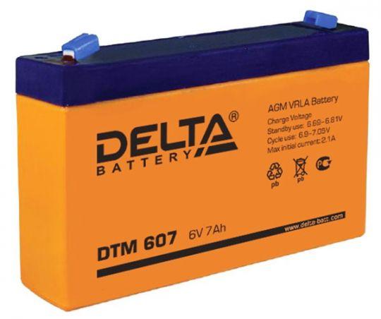 Аккумулятор свинцово-кислотный АКБ DELTA (Дельта) DTM 607 6 Вольт 7 Ач