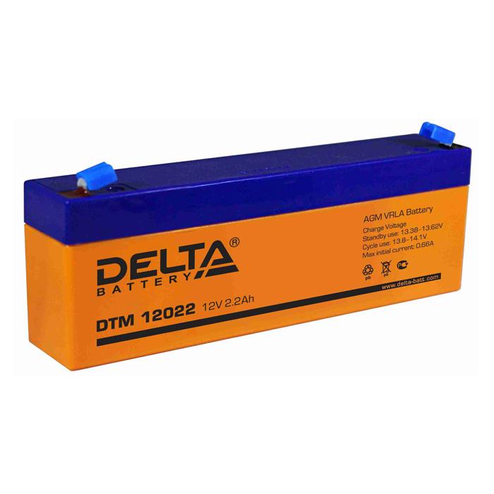 Аккумулятор свинцово-кислотный АКБ DELTA (Дельта) DTM 12022 12 Вольт 2.2 Ач