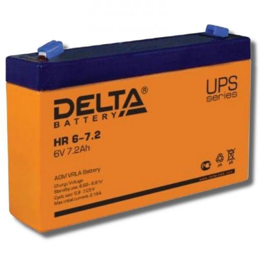 Аккумулятор свинцово-кислотный АКБ DELTA (Дельта) HR 6-7.2 6 Вольт 7.2 Ач