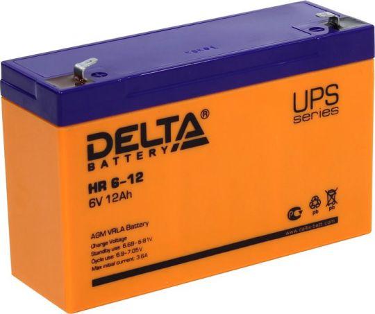 Аккумулятор свинцово-кислотный АКБ DELTA (Дельта) HR 6-12 6 Вольт 12 Ач