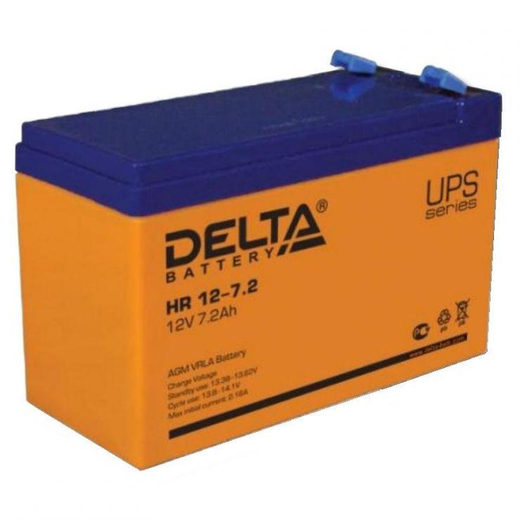 Аккумулятор свинцово-кислотный АКБ DELTA (Дельта) HR 12-7.2 12 Вольт 7.2 Ач