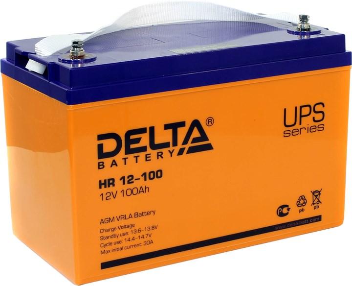 Аккумулятор свинцово-кислотный АКБ DELTA (Дельта) HR 12-100 12 Вольт 100 Ач