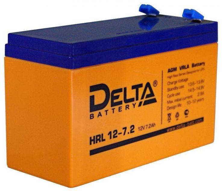 Аккумулятор свинцово-кислотный АКБ DELTA (Дельта) HRL 12-7.2 12 Вольт 7.2Ач