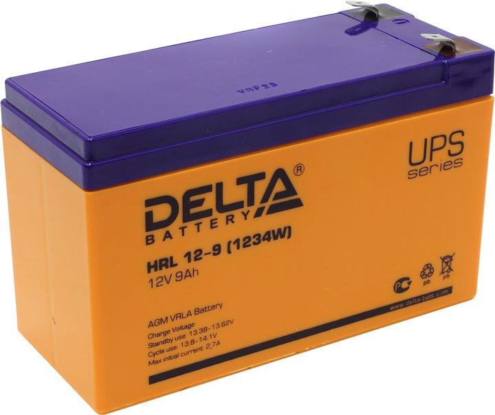 Аккумулятор свинцово-кислотный АКБ DELTA (Дельта) HRL 12-9 12 Вольт 9Ач