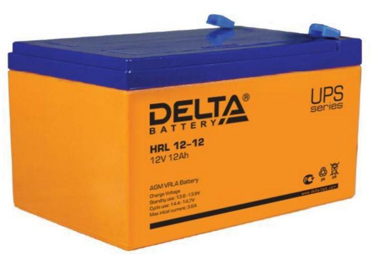 Аккумулятор свинцово-кислотный АКБ DELTA (Дельта) HRL 12-12 12 Вольт 12Ач
