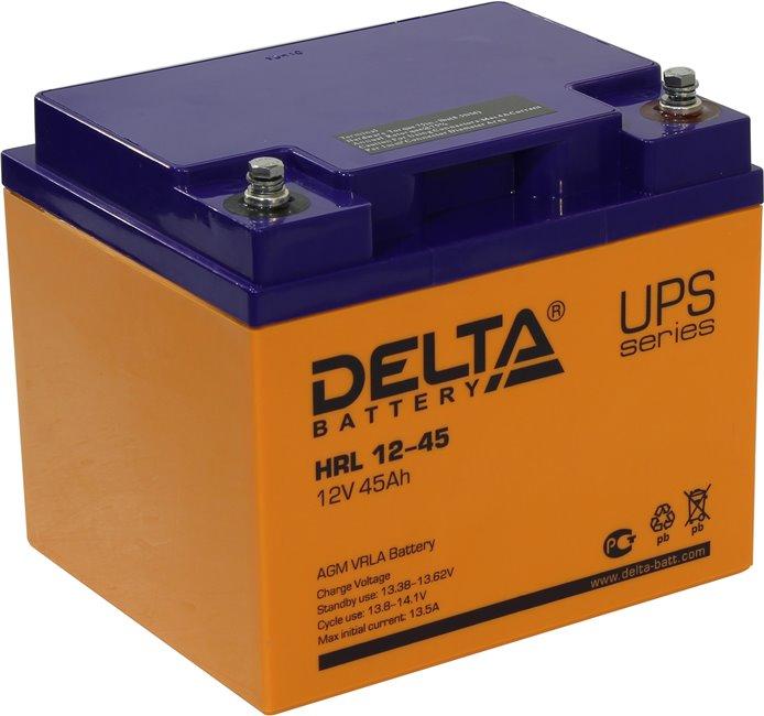 Аккумулятор свинцово-кислотный АКБ DELTA (Дельта) HRL 12-45 12 Вольт 45Ач