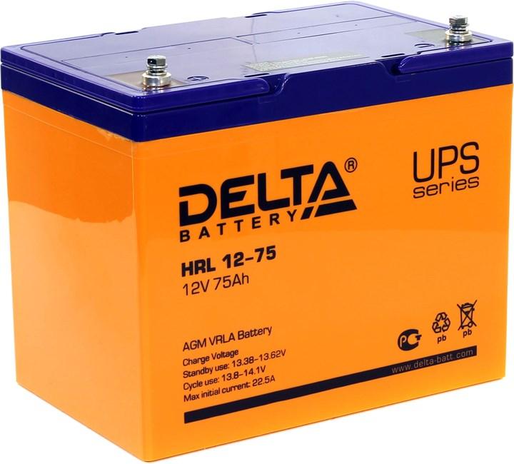 Аккумулятор свинцово-кислотный АКБ DELTA (Дельта) HRL 12-75 12 Вольт 75Ач