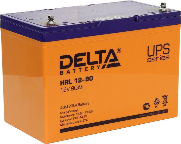 Аккумулятор свинцово-кислотный АКБ DELTA (Дельта) HRL 12-90 12 Вольт 90Ач