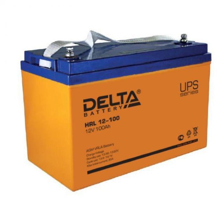 Аккумулятор свинцово-кислотный АКБ DELTA (Дельта) HRL 12-100 12 Вольт 100Ач