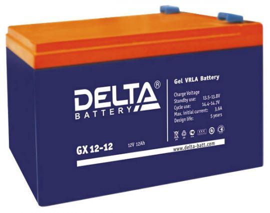 Аккумулятор свинцово-кислотный АКБ DELTA (Дельта) GX 12-12 12 Вольт 12 Ач (Gel)
