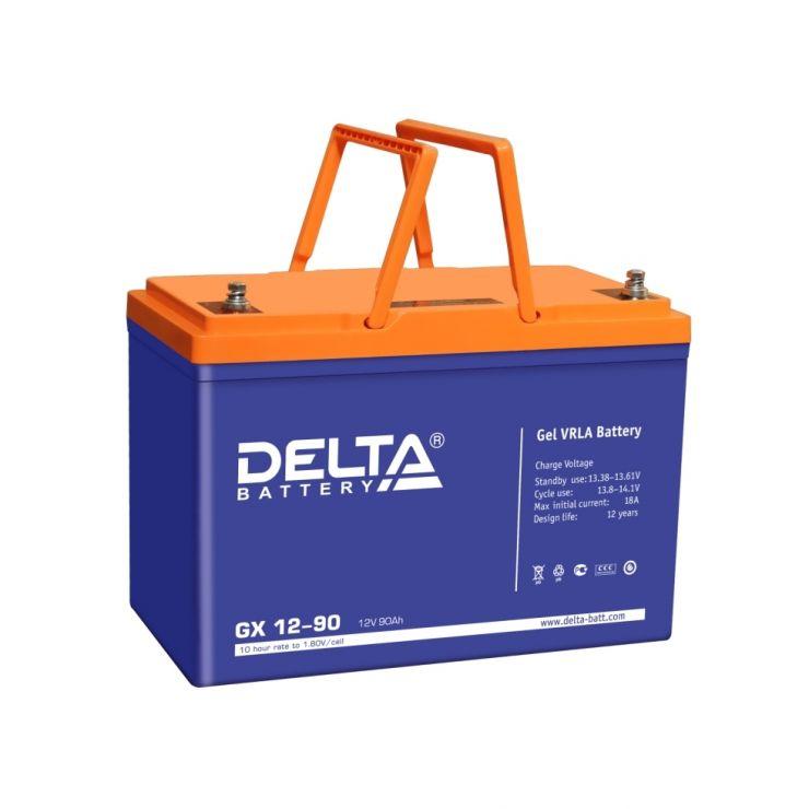 Аккумулятор свинцово-кислотный АКБ DELTA (Дельта) GX 12-90 12 Вольт 90 Ач (Gel)