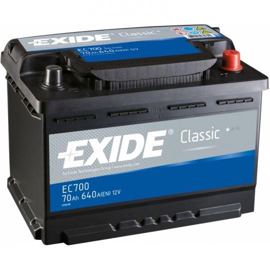 Автомобильный аккумулятор АКБ Exide (Эксайд) Classic EC700 70Ач o.п.