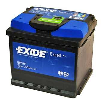 Автомобильный аккумулятор АКБ Exide (Эксайд) Excell EB501 50Ач п.п.