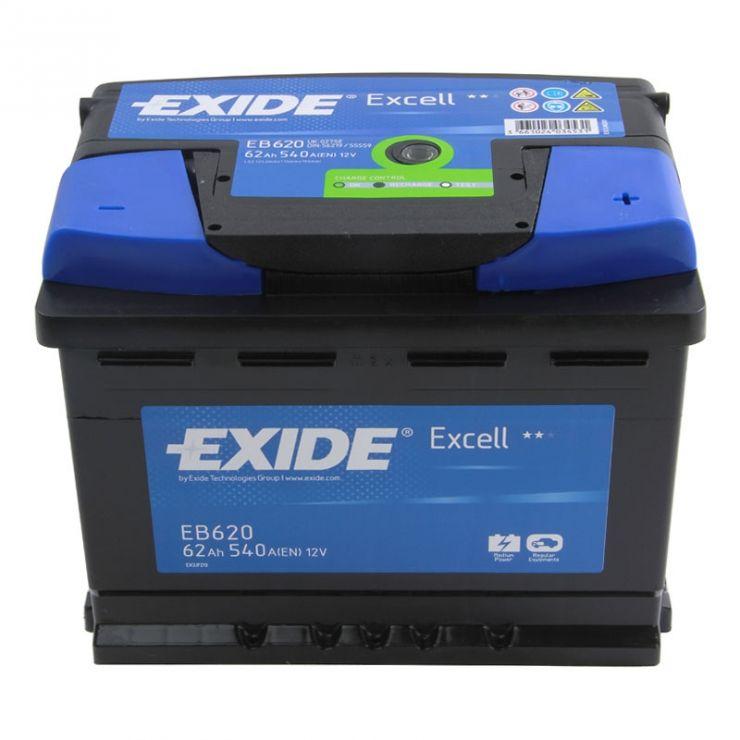 Автомобильный аккумулятор АКБ Exide (Эксайд) Excell EB620 62Ач о.п.