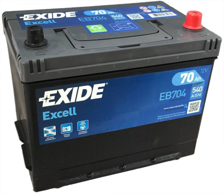 Автомобильный аккумулятор АКБ Exide (Эксайд) Excell EB704 70Ач о.п.