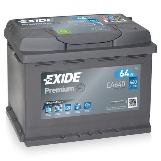 Автомобильный аккумулятор АКБ Exide (Эксайд) Premium EA640 64Ач о.п.