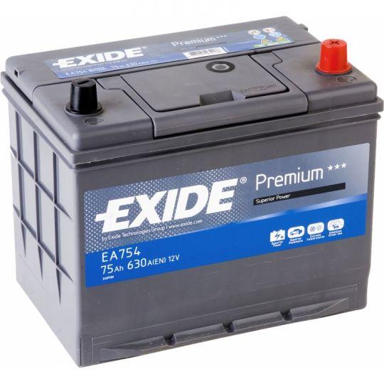 Автомобильный аккумулятор АКБ Exide (Эксайд) Premium EA754 75Ач о.п.