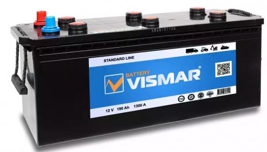 Автомобильный аккумулятор АКБ Vismar (ВИСМАР) 6СТ-190 190Ач П.П. (4) (росс.)